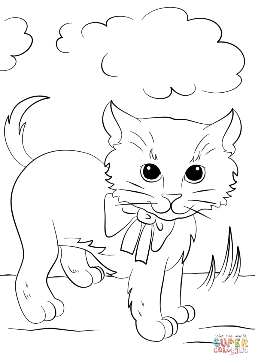 cute kittens coloring pages cute kittens coloring pages bubakids cat animal coloring cute kittens coloring pages