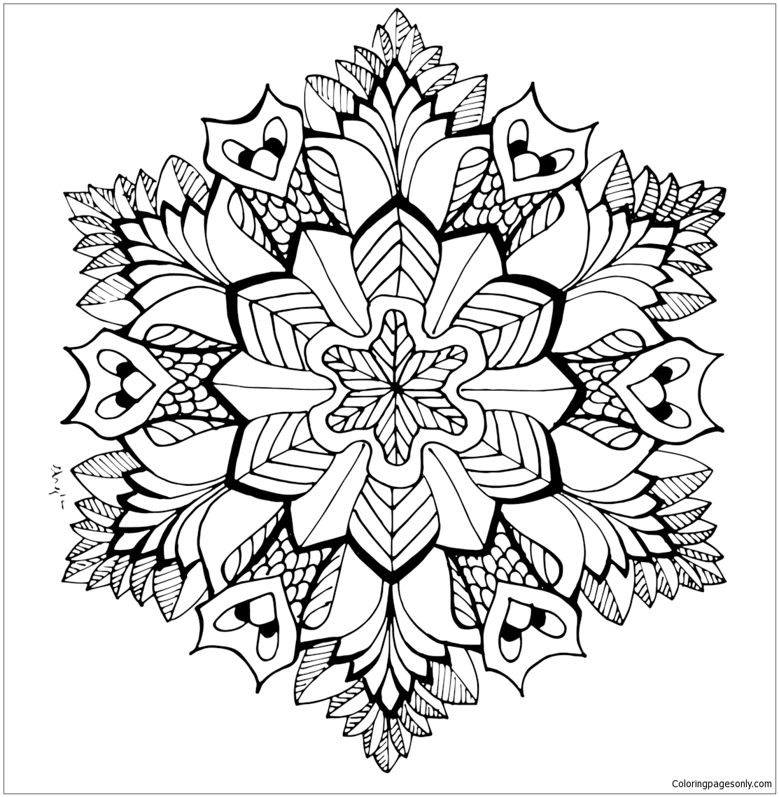 cute mandala coloring pages a cute floral mandala vector free download coloring cute mandala pages