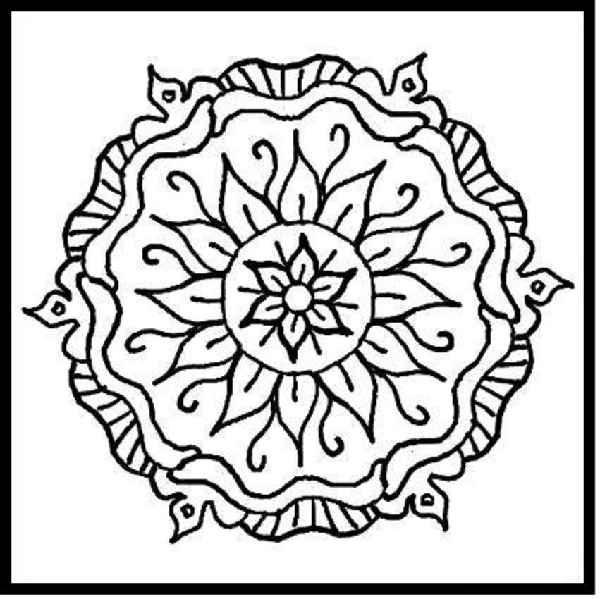 cute mandala coloring pages simple mandala coloring pages for adults free printable cute pages coloring mandala