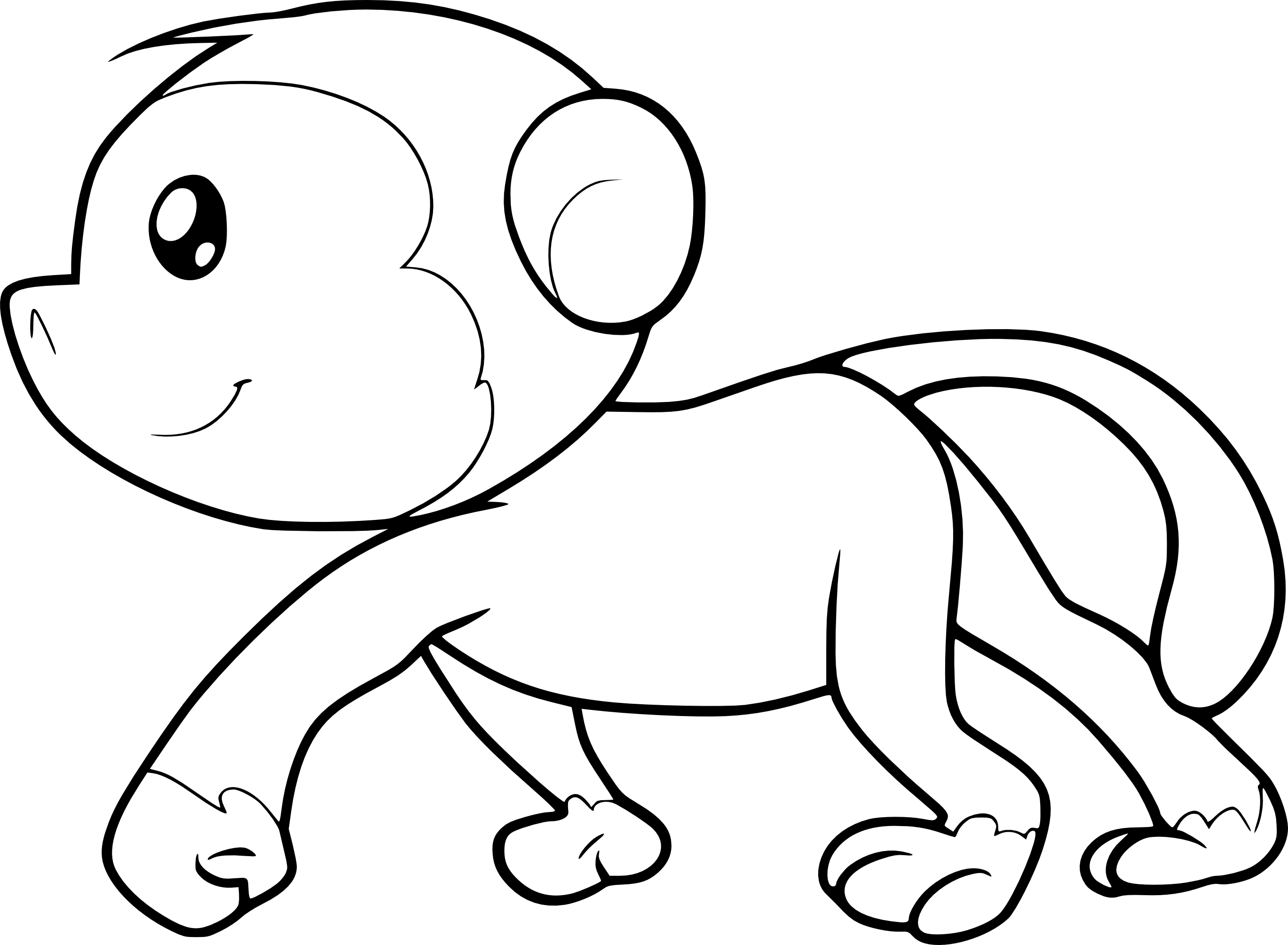cute monkey coloring 35 ideas for cute simple monkey coloring pages twin monkey cute coloring