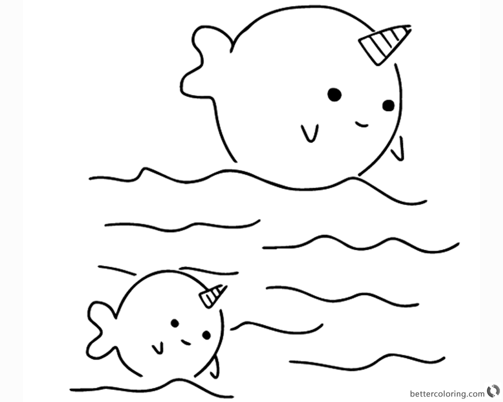 cute narwhal coloring page cute baby narwhal coloring page netart page narwhal coloring cute