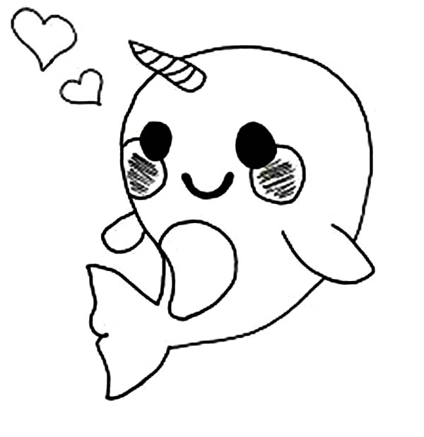 cute narwhal coloring page soulmuseumblog cute baby narwhal coloring pages coloring page cute narwhal