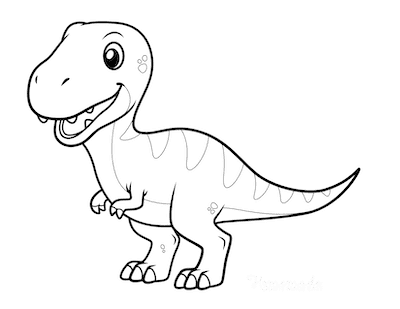 cute t rex dinosaur coloring pages cute black and white cartoon of baby t rex dinosaur stock pages t rex dinosaur coloring cute