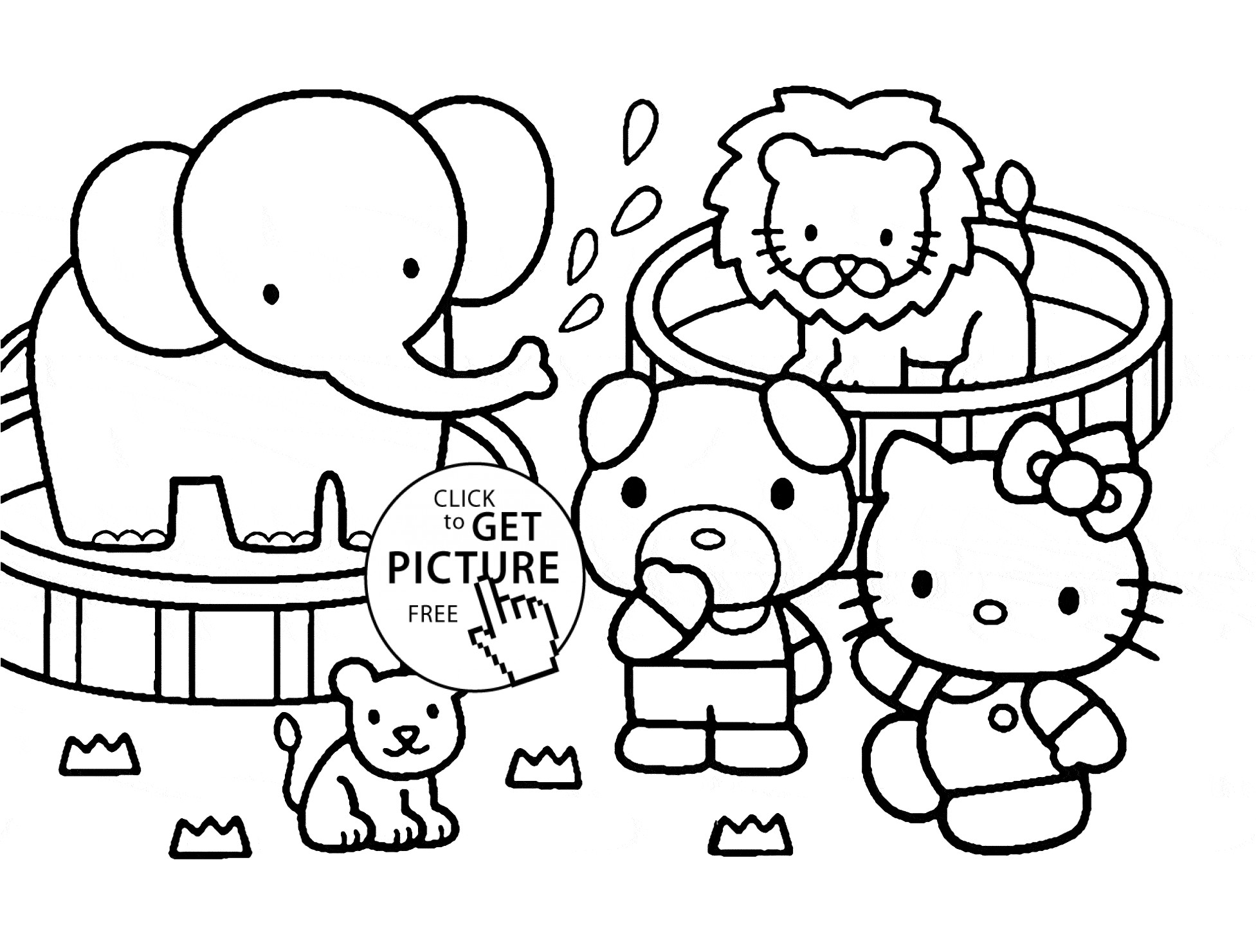 cute zoo coloring pages cute cartoon animal set zoo coloring and drawing page coloring cute zoo pages