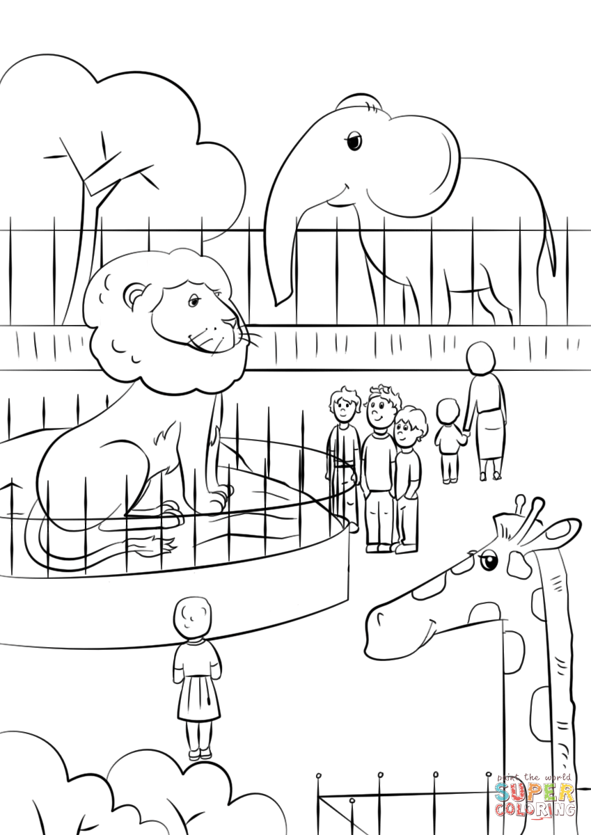 cute zoo coloring pages zoo animals coloring page free printable coloring pages cute coloring zoo pages