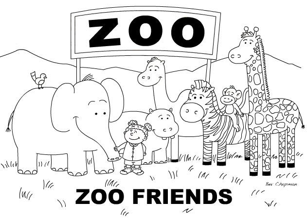 cute zoo coloring pages zoo animals drawing free download on clipartmag coloring pages cute zoo