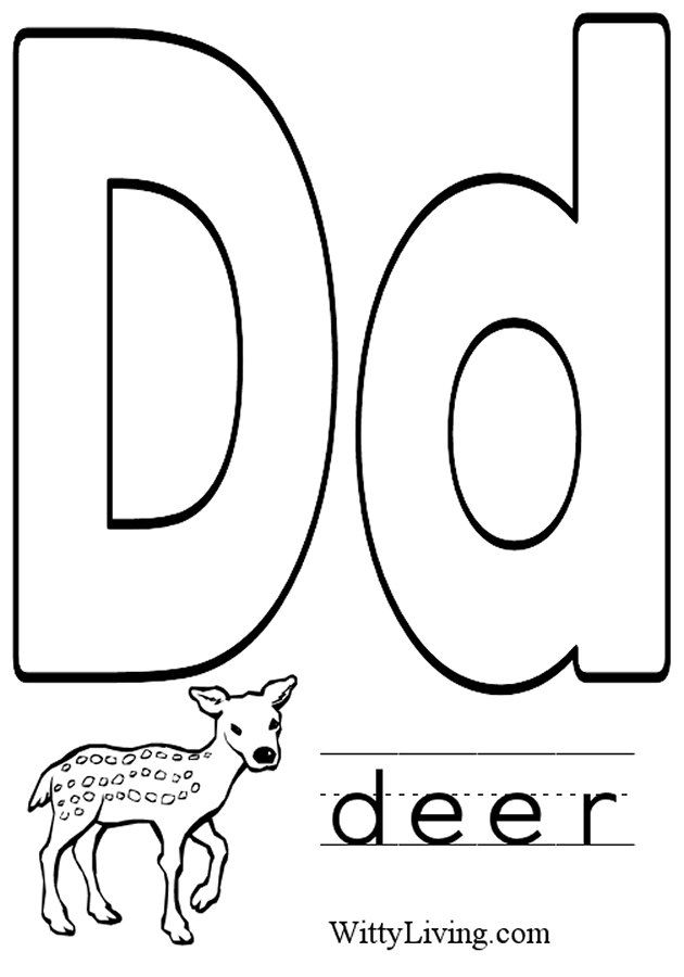 d coloring worksheet trace the letter d and color the letter d preschool crafts worksheet d coloring
