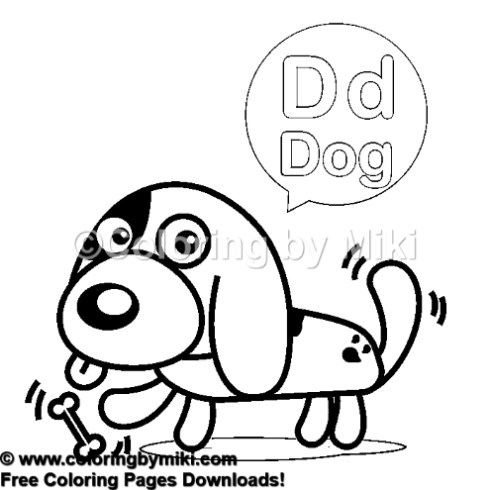 d for dog coloring page alphabets d for dog coloring page 428 coloring by miki for dog page d coloring