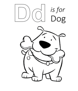 d for dog coloring page d for dog coloring page with handwriting practice coloring dog d page for