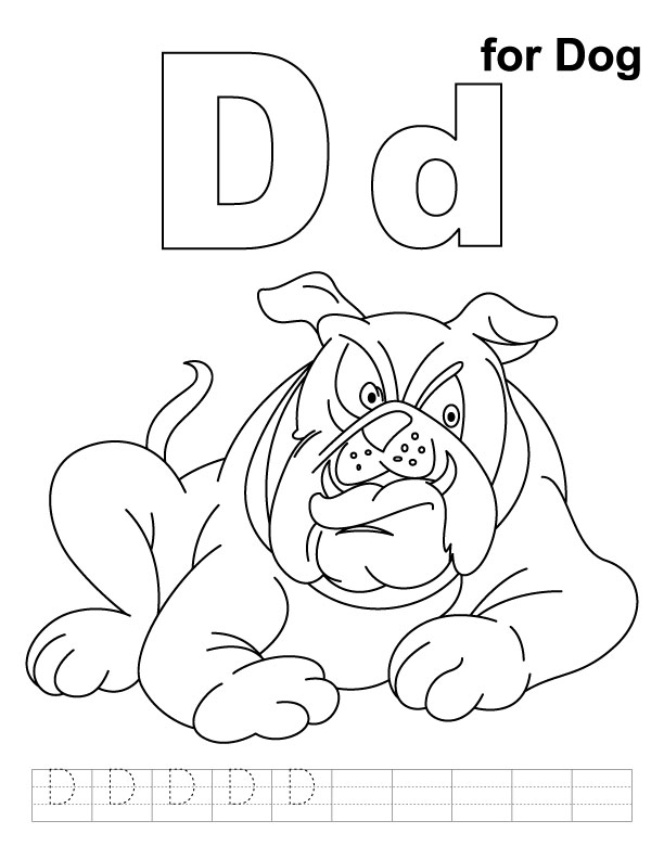d for dog coloring page d for dog on learning abc coloring page coloring sky dog coloring d for page