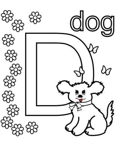 d for dog coloring page d for dog preschool coloring pages d is for dog d dog page coloring for