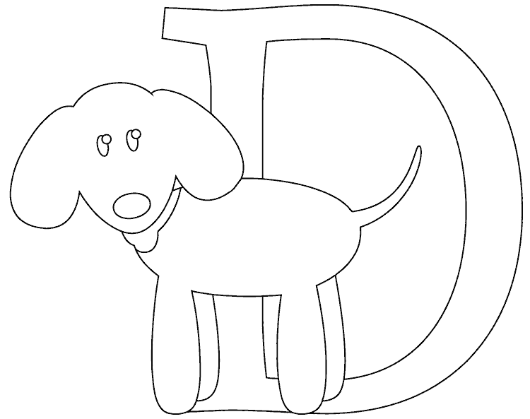 d for dog coloring page d is for dog coloring page coloringcom page dog coloring for d