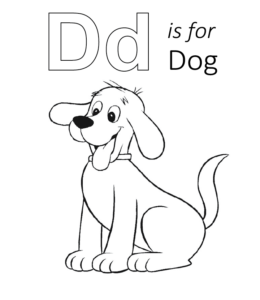 d for dog coloring page d is for dog printable tim39s printables for dog d page coloring