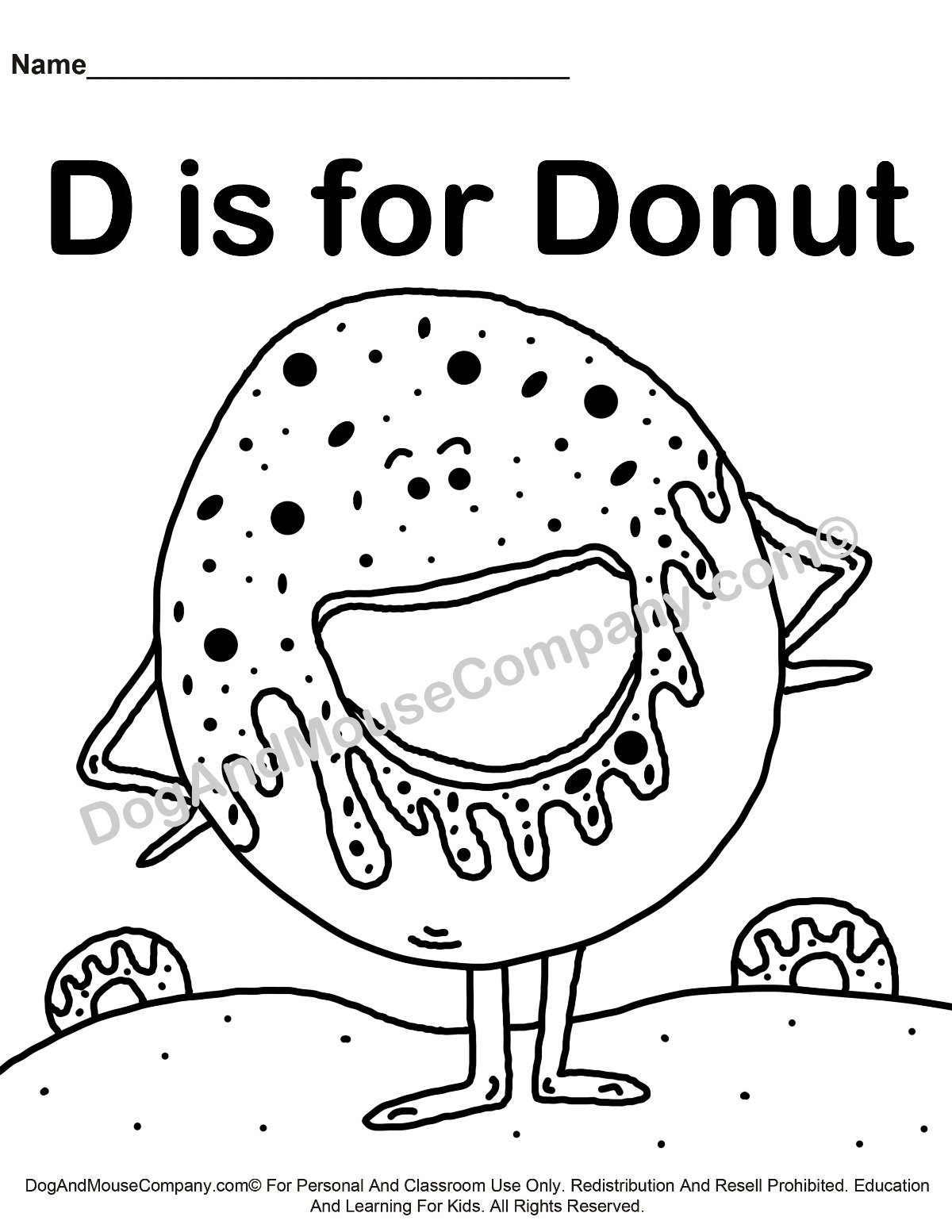 d for dog coloring page d is for donut coloring page learn your abc39s for d coloring page dog