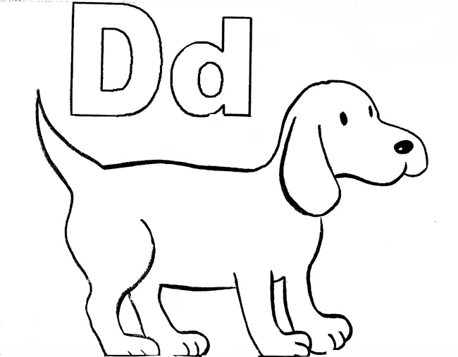 d for dog coloring page d is for dots on a dog coloring page twisty noodle page d coloring dog for