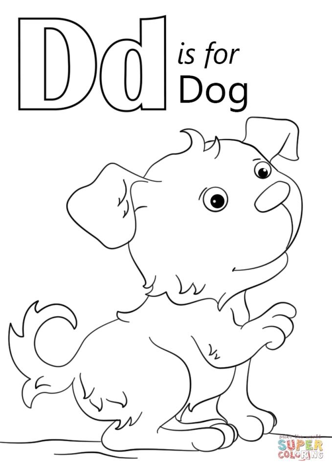 d for dog coloring page learning letter d in the alphabet playing learning coloring page dog d for