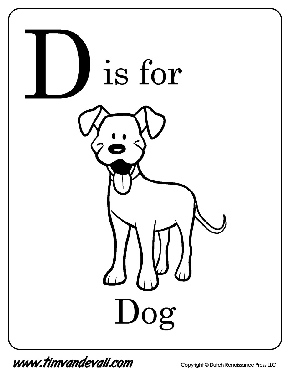 d for dog coloring page learning letter d in the alphabet playing learning page for d coloring dog