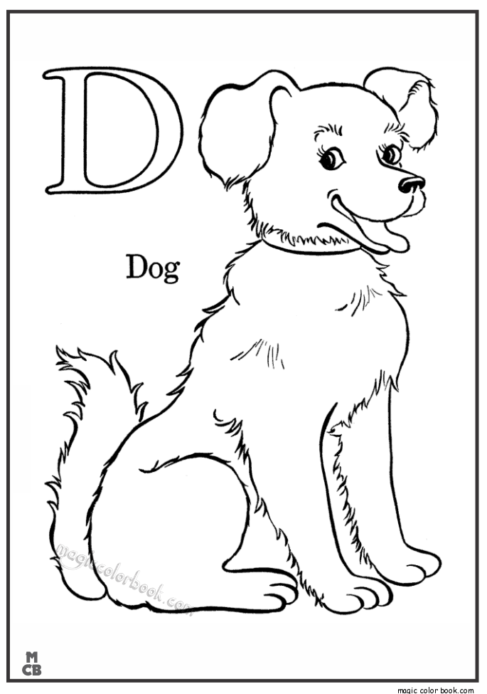 d for dog coloring page letter d coloring pages to download and print for free page dog d for coloring
