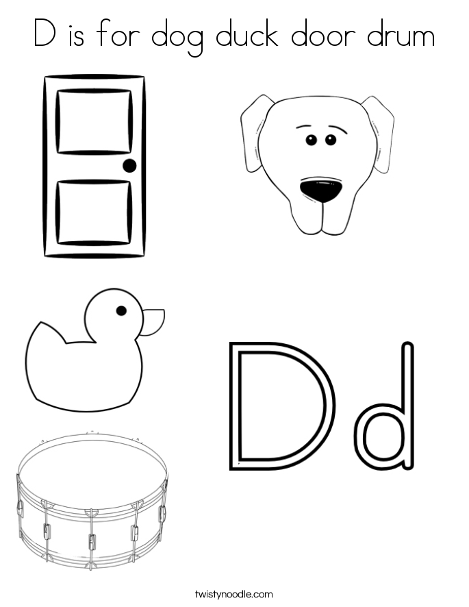 d for duck coloring page d is for dog duck door drum coloring page twisty noodle page d duck for coloring