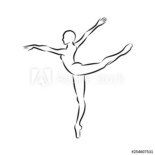 dancer outline classical dancers silhouette in different poses and attitudes outline dancer