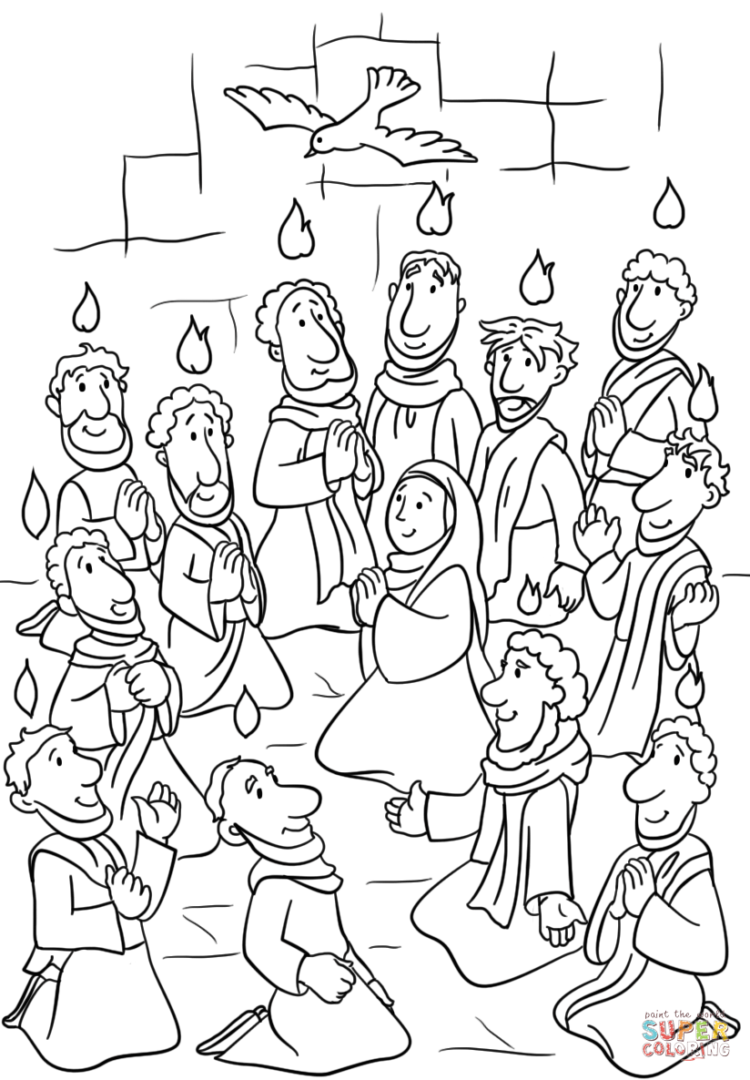 day of pentecost coloring sheet day of pentecost coloring pages at getcoloringscom free day coloring of pentecost sheet