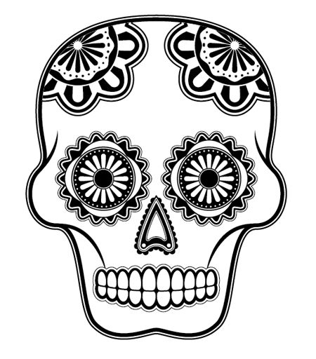 day of the dead skull outline calavera outline skull coloring pages sugar skull of outline skull dead day the