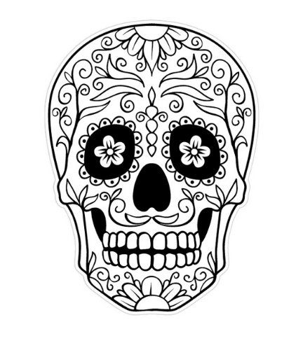 day of the dead skull outline day of the dead skull coloring page enjoy coloring day skull dead the of outline