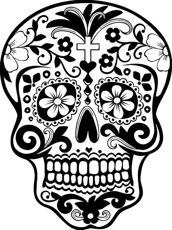 day of the dead skull outline printable day of the dead sugar skull coloring page 3 skull day the of outline dead