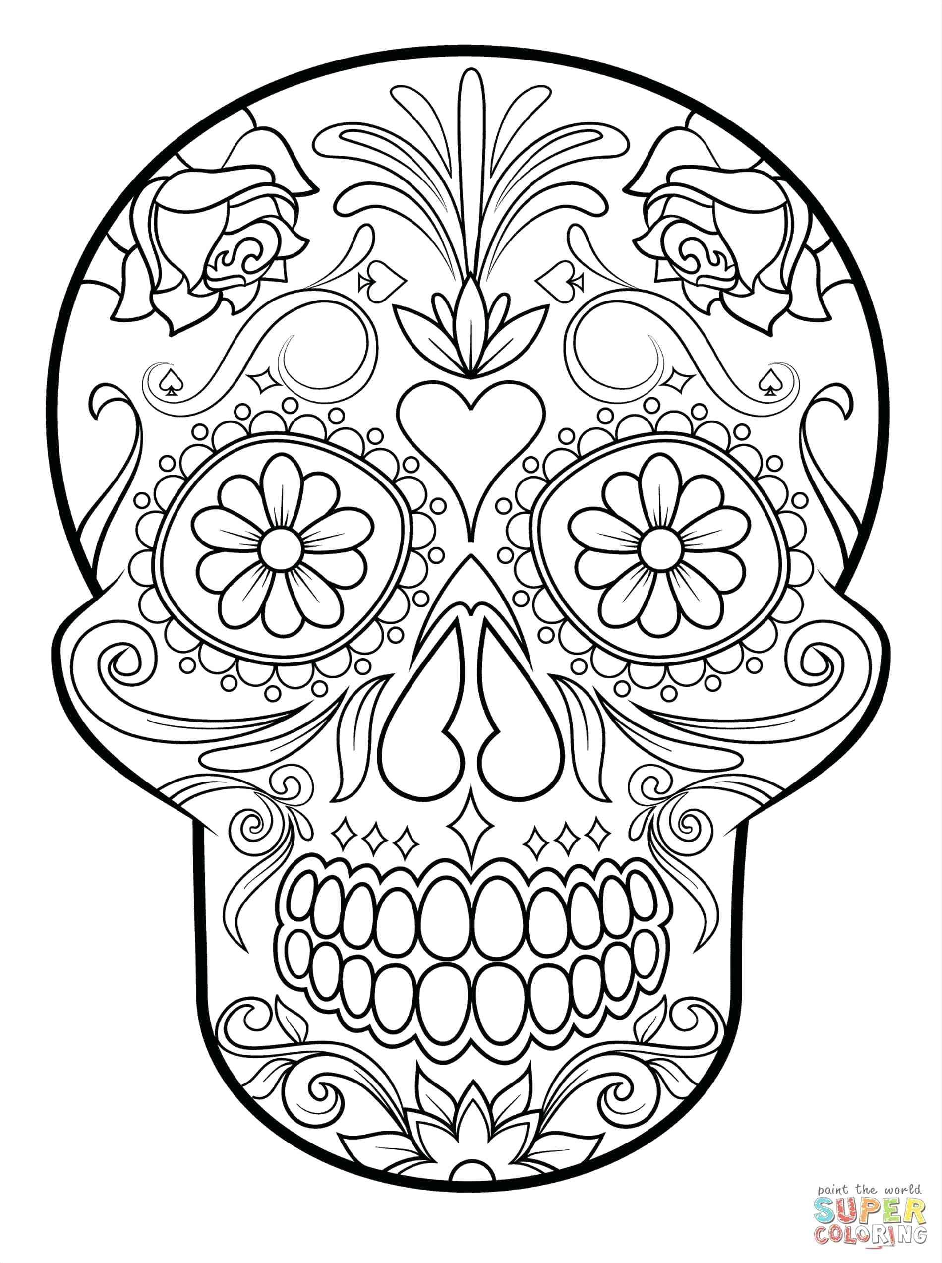 day of the dead skull outline skulls and roses drawing at getdrawings free download day outline of the dead skull