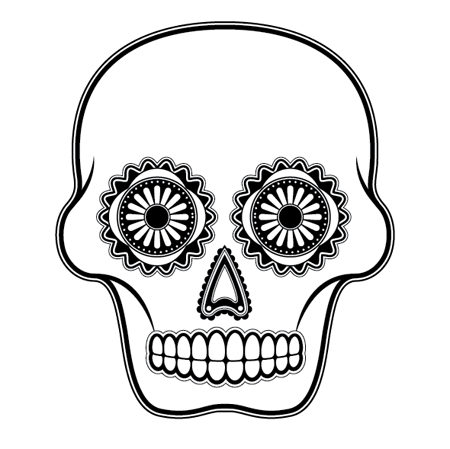 day of the dead skull outline sugar skull drawing template at getdrawings free download skull of day dead the outline