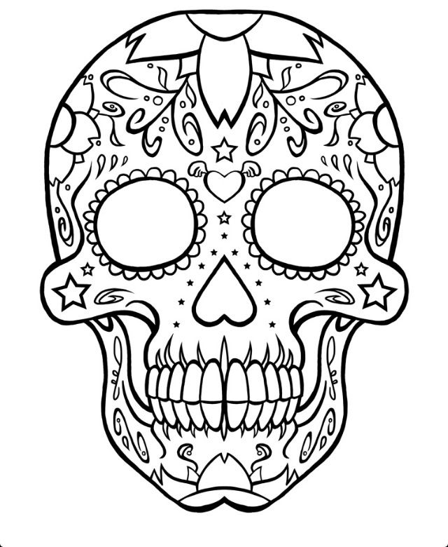 day of the dead skull outline sugar skull tattoo designs outline cool eyecatching the day of skull dead outline