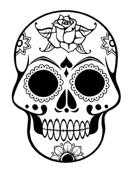 day of the dead skull outline sugar skull template sugar skull coloring page dis de los the outline dead day of skull