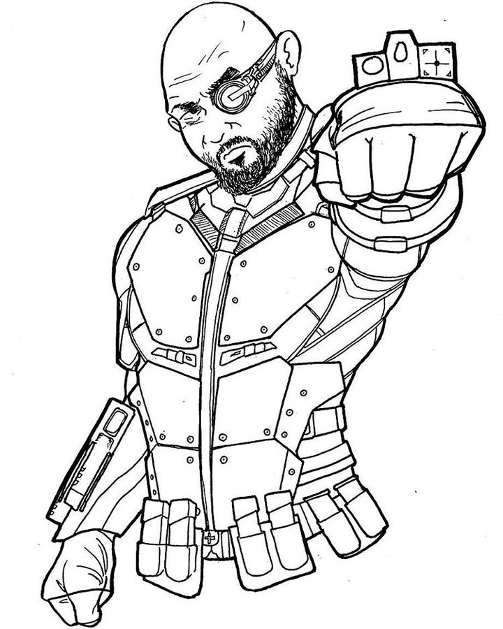 deadshot coloring pages deadshot by brianatkins on deviantart deadshot coloring pages