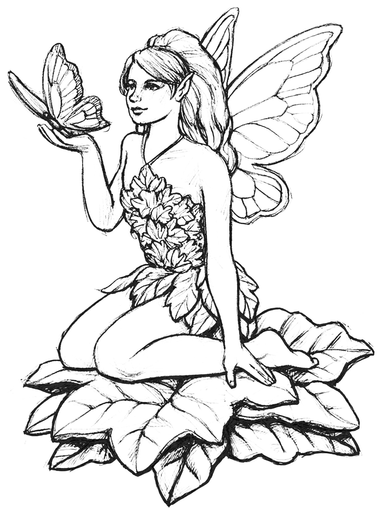 detailed beautiful fairy coloring pages a fairy with pretty feet by gingeropaldeviantartcom on beautiful pages detailed fairy coloring