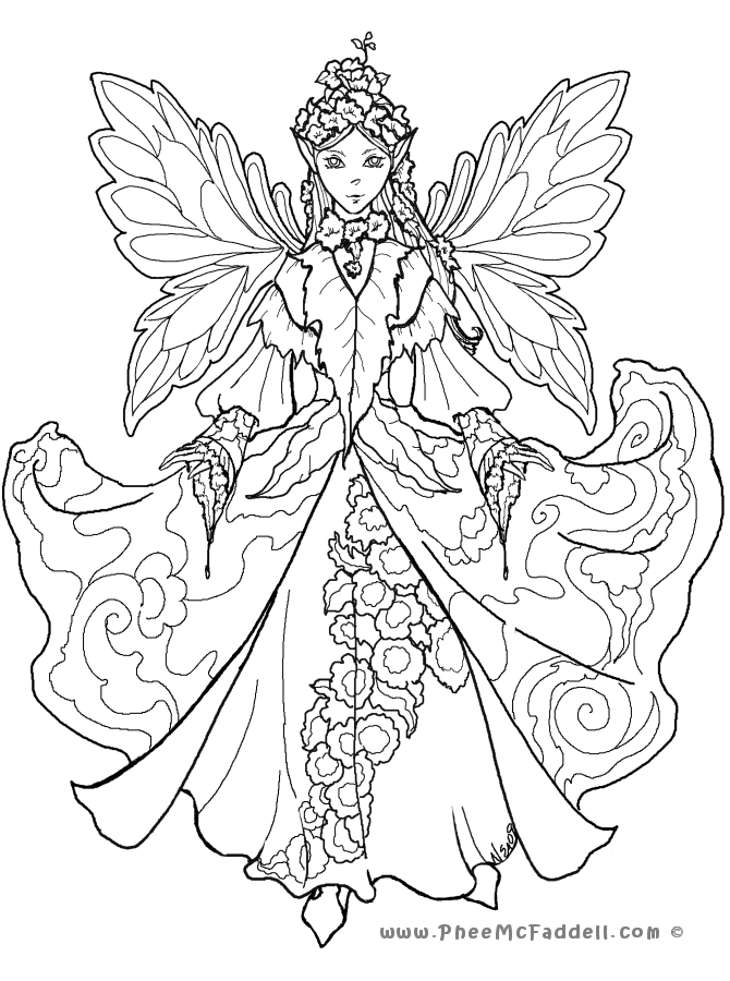 detailed beautiful fairy coloring pages beautiful fairy of chrysanthemum coloring page beautiful coloring detailed fairy beautiful pages
