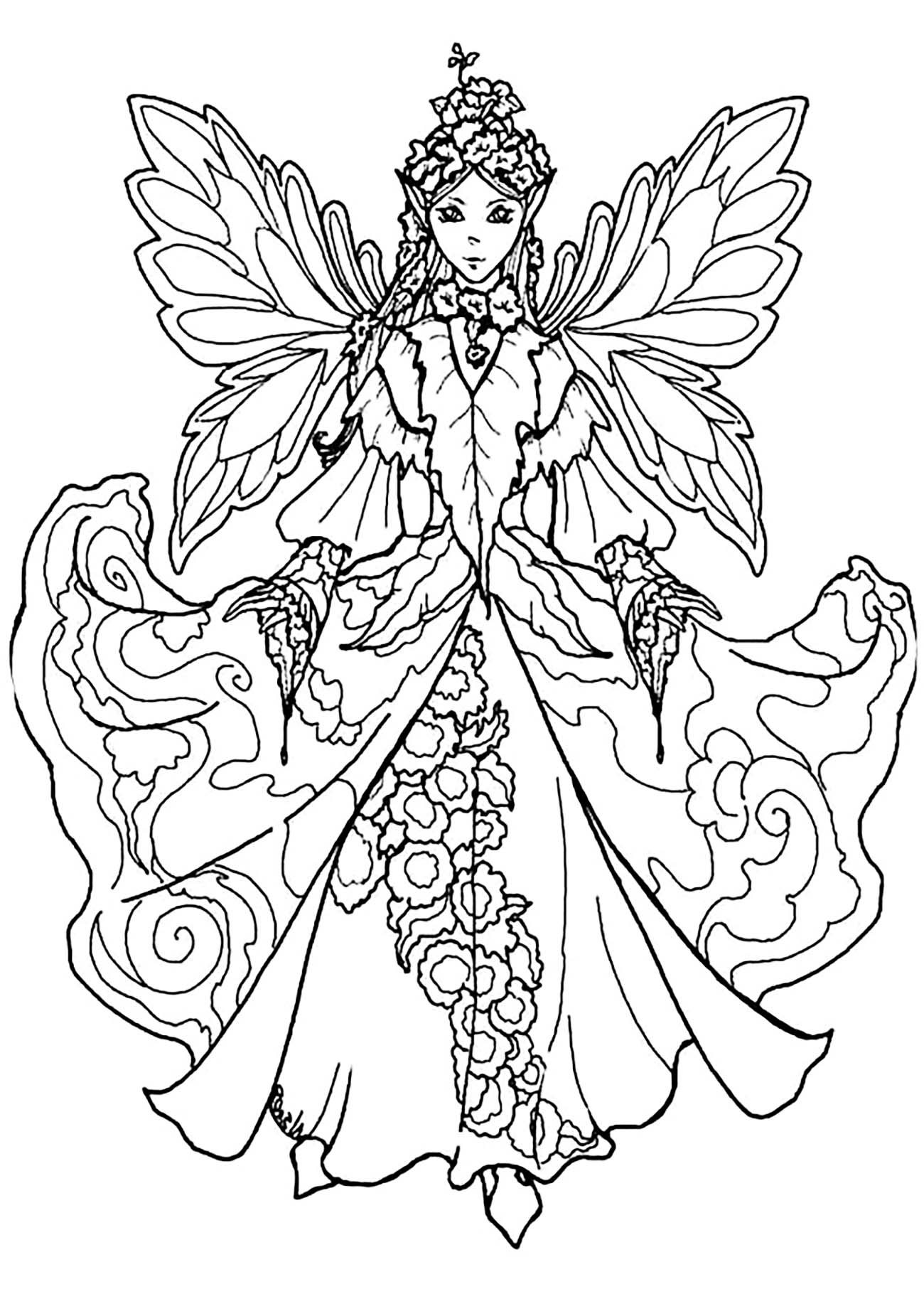 detailed beautiful fairy coloring pages light fairy coloring pages super duper coloring fairy detailed coloring beautiful pages