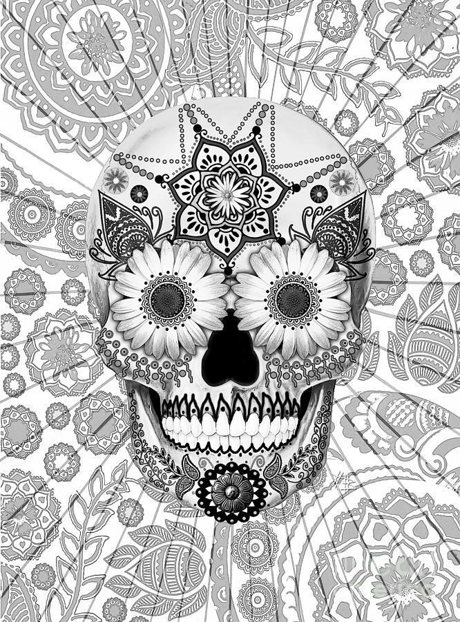 detailed skull coloring pages 466 best images about day of the dead on pinterest pages coloring skull detailed