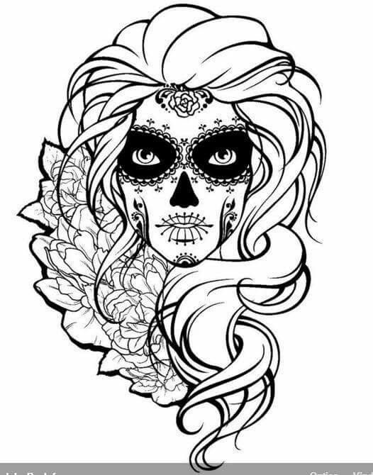 detailed skull coloring pages advanced adult coloring pages lovely free sugar skullring skull pages coloring detailed