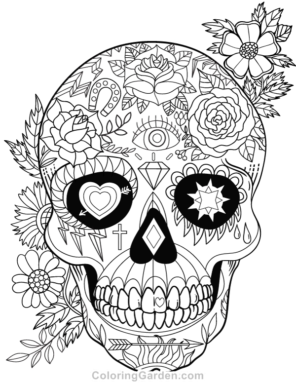 detailed skull coloring pages detailed skull coloring pages at getdrawings free download skull detailed coloring pages