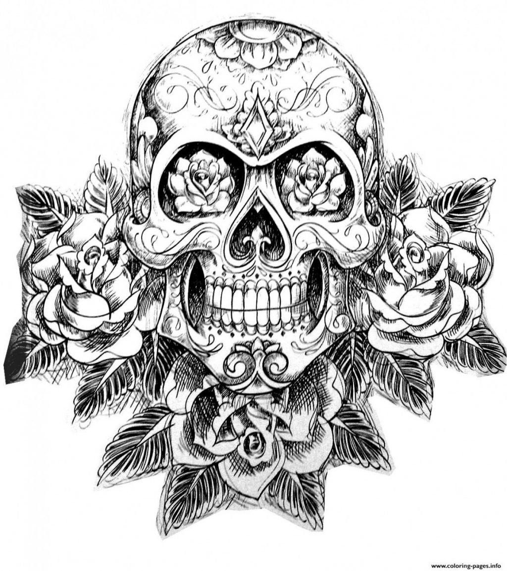 detailed skull coloring pages free printable sugar skull day of the dead adult coloring detailed pages skull