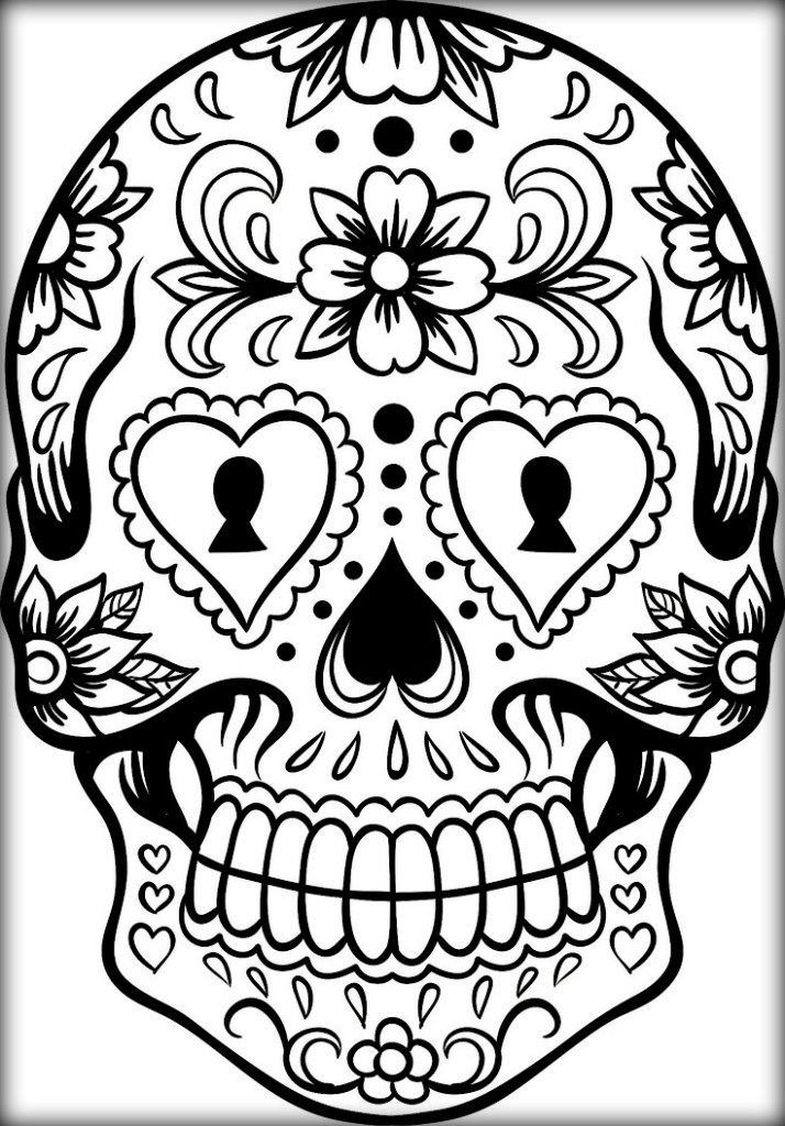detailed skull coloring pages pin on printable fun pictures skull coloring detailed pages