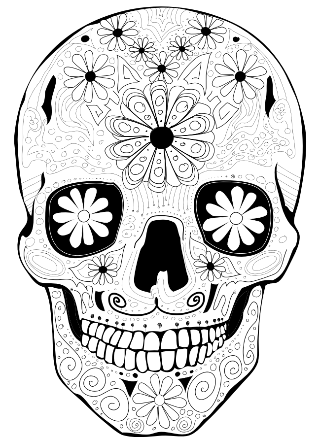 detailed skull coloring pages skull from sugar skulls day of the dead coloring page coloring skull pages detailed