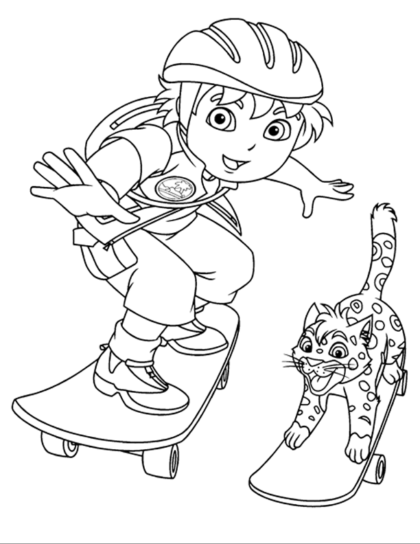 diego coloring pages coloring pages diego 05 cartoons gt go diego go free coloring pages diego