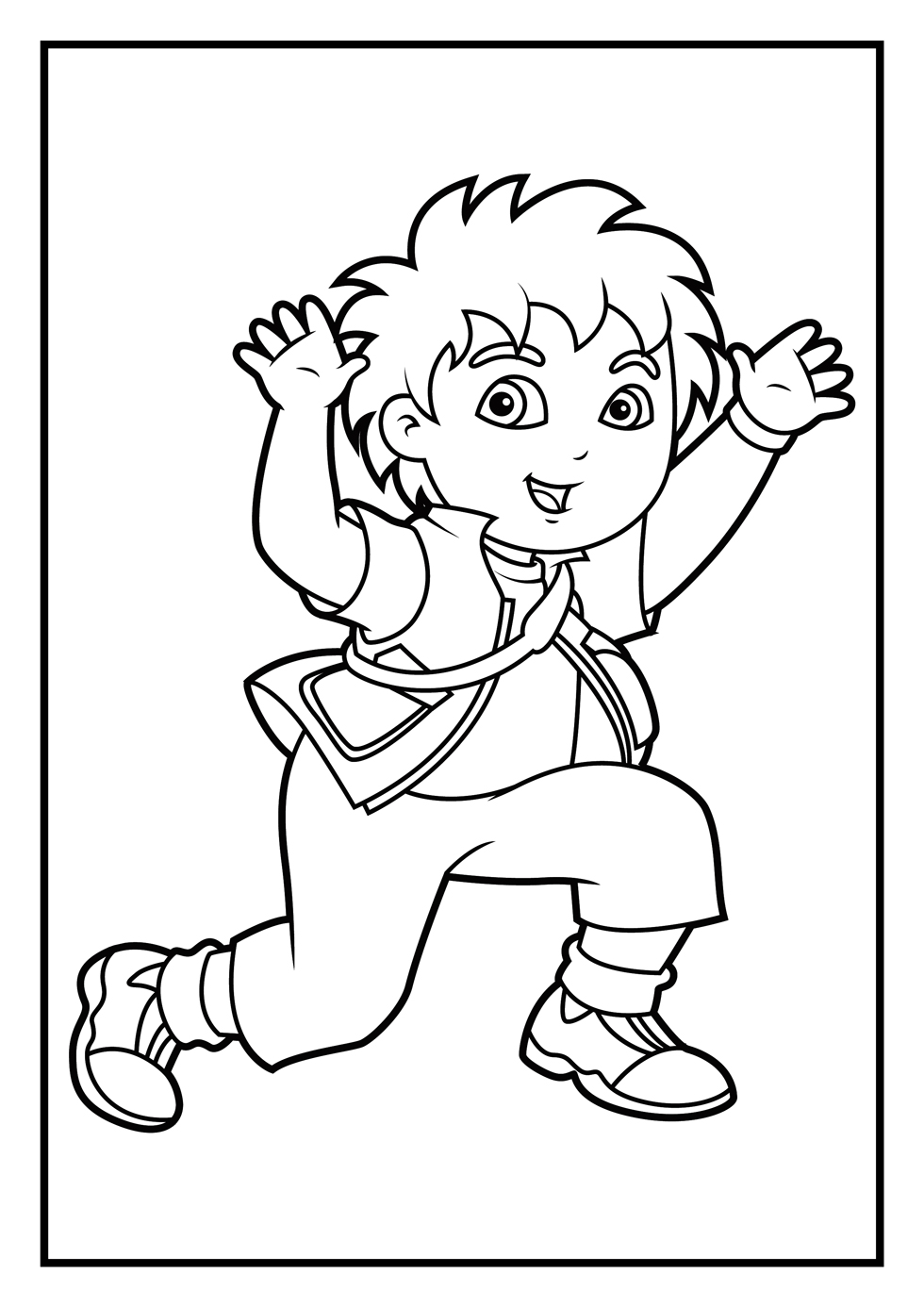 diego coloring pages free printable diego coloring pages for kids pages diego coloring