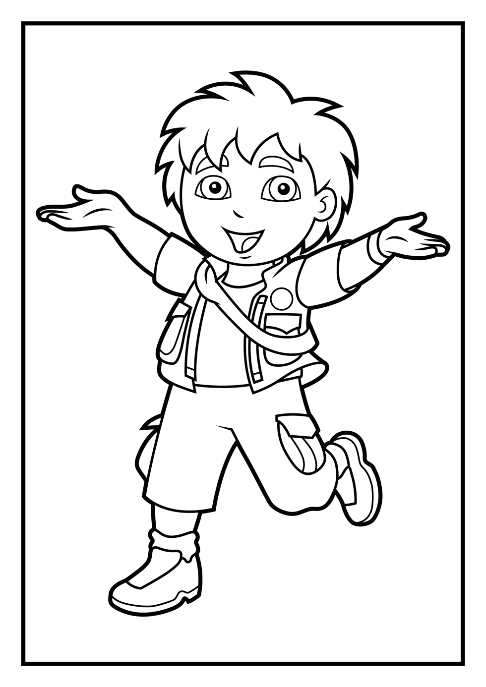 diego coloring pages go diego coloring pages for kids printable free barnkalas diego coloring pages