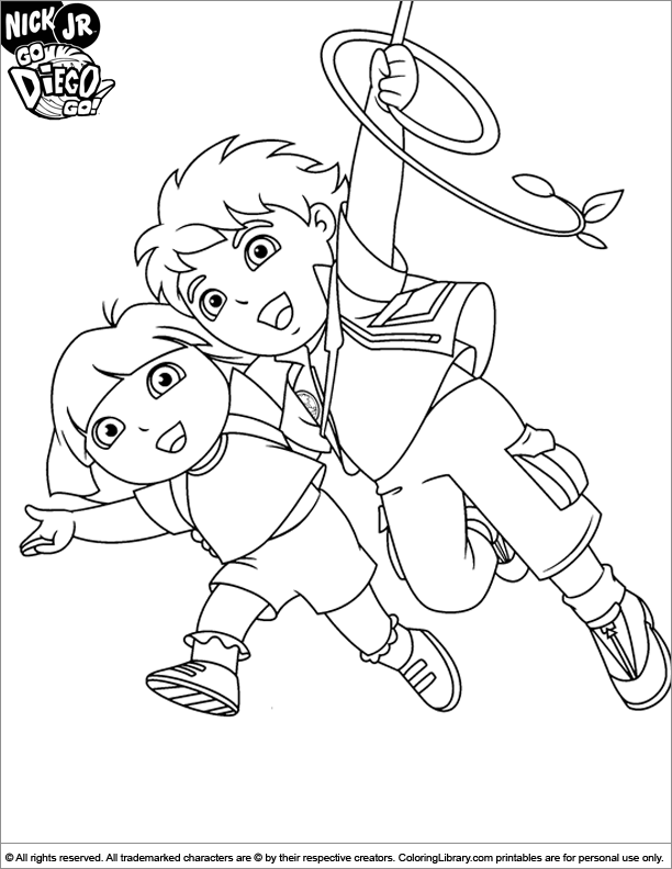 diego coloring pages go diego go printable coloring page coloring library diego pages coloring