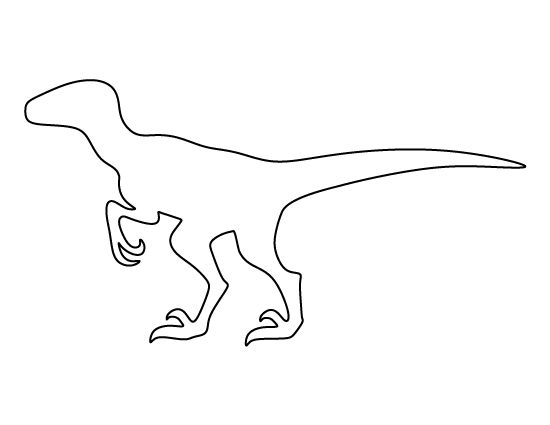 dinosaur templates free velociraptor pattern use the printable outline for crafts templates dinosaur free