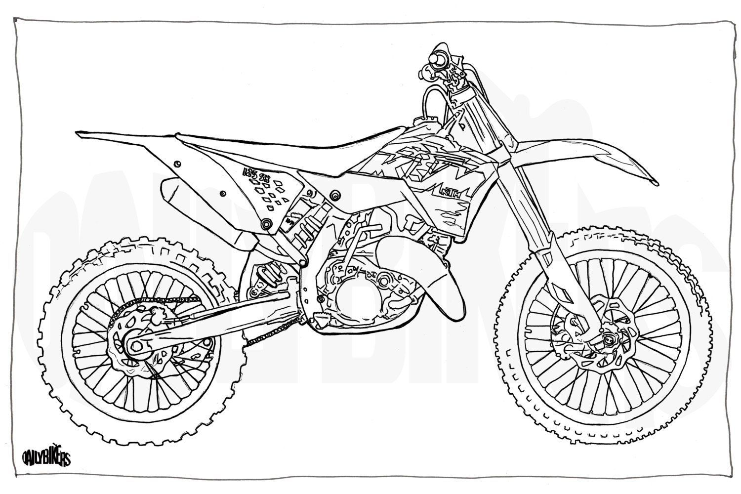 dirt bike coloring pages printable fierce rider dirt bike coloring dirtbikes free printable coloring dirt bike pages