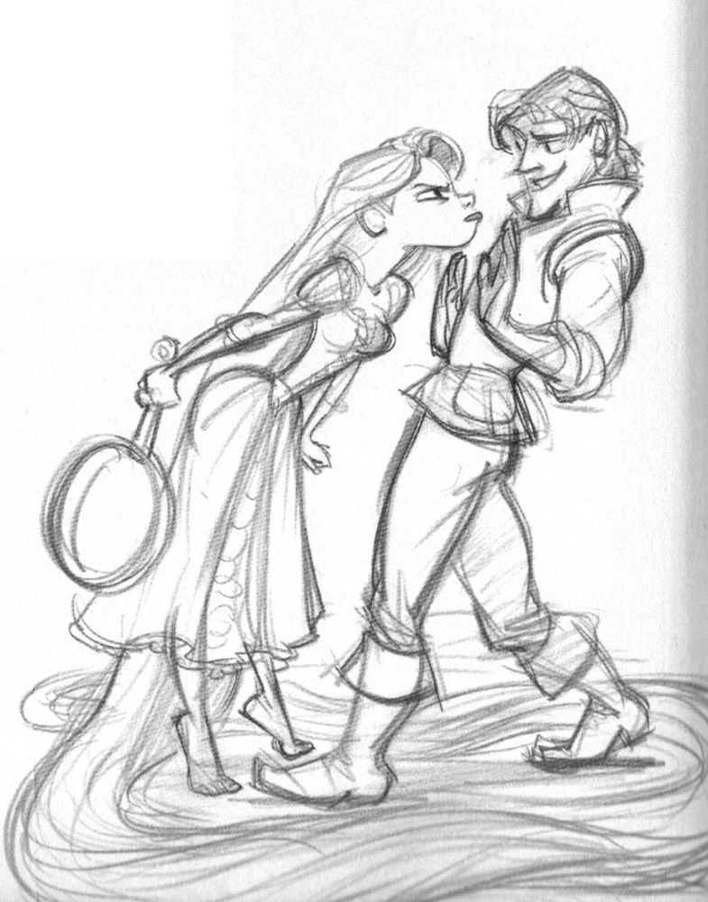disney drawing characters living lines library tangled 2010 characters disney characters drawing