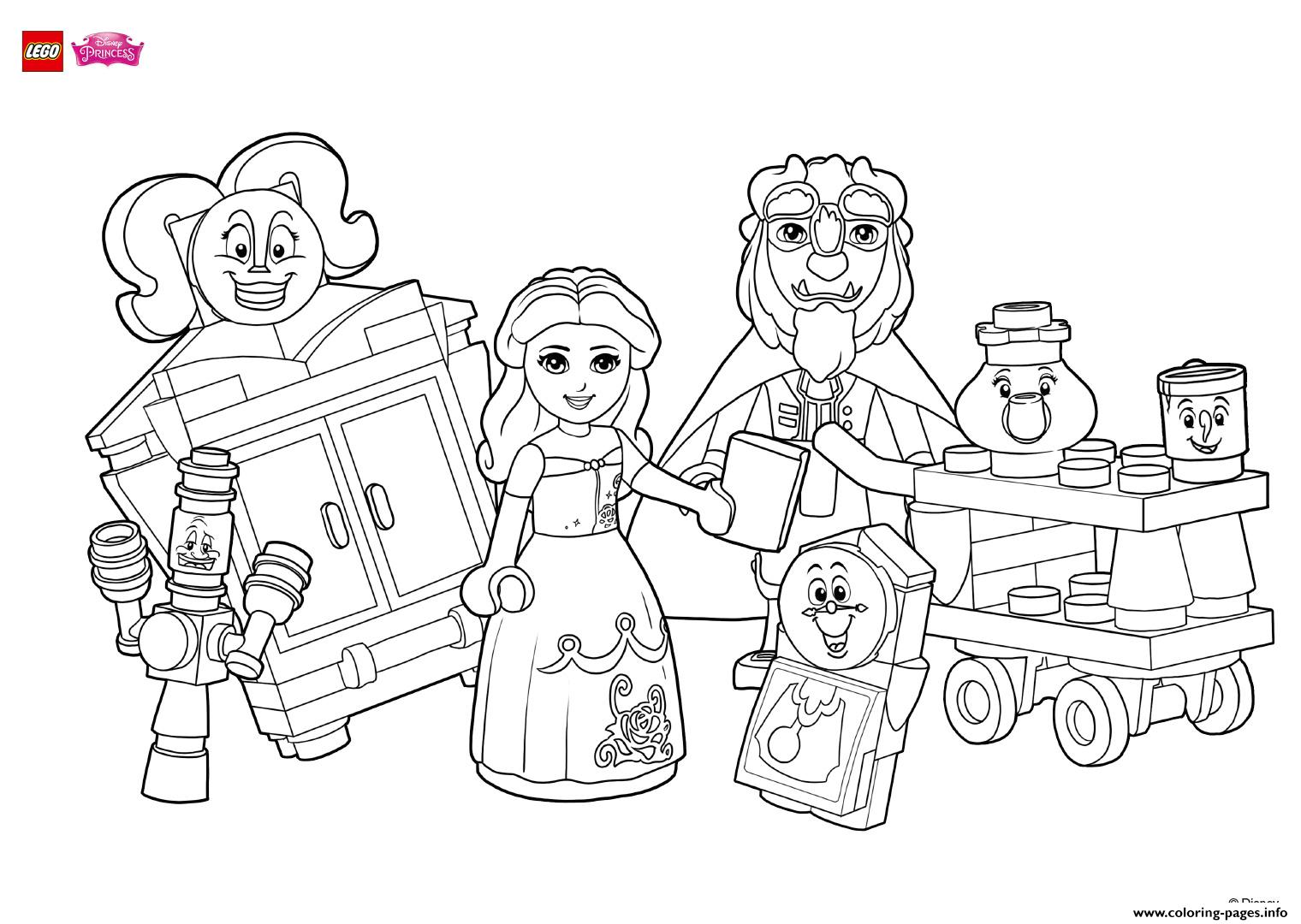disney princess lego coloring pages coloring fun with beauty and her friends lego disney coloring pages princess lego disney